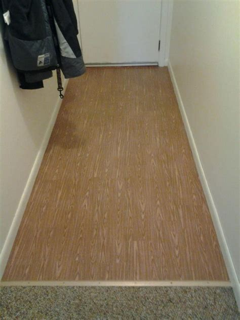 "TEMPORARY  Contact Paper ""wood"" floors: Cut wood grain"