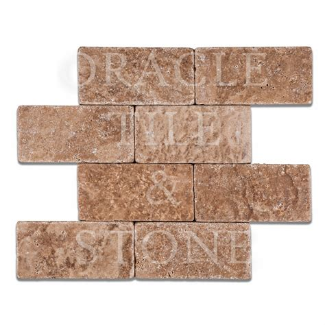 rectangular tile andean walnut travertine 3 x 6 rectangular field tile oracle tile stone
