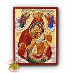Nioras Icon Panagia Icons Hagiography Orthodox Handpainted