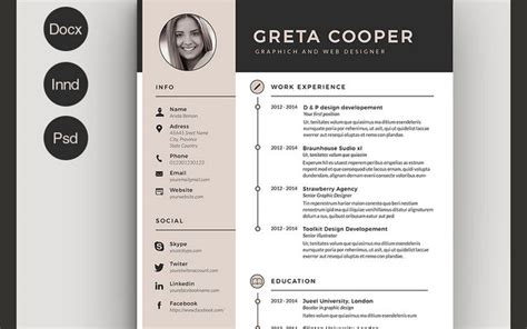 Free Graphic Design Resume Template Word by 1000 Ideas About Cv Resume Template On Resume Resume Templates And Resume Cv