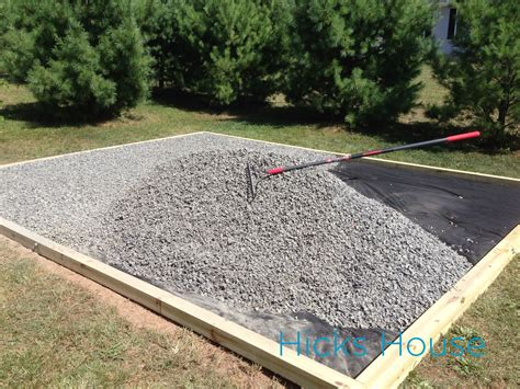 how to build a base for a granite top building a shed base hicks house