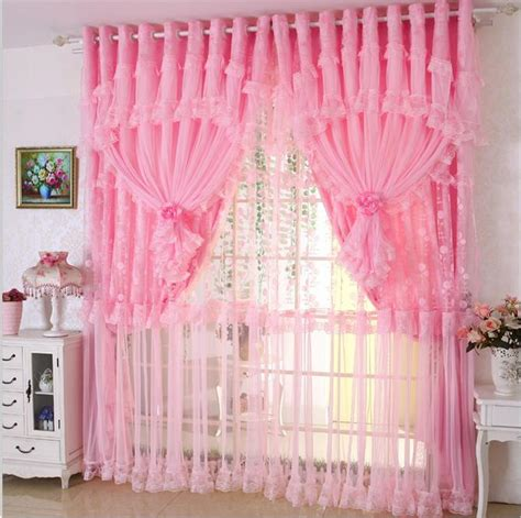 window lace curtains custom made 2 pcs blackout curtains