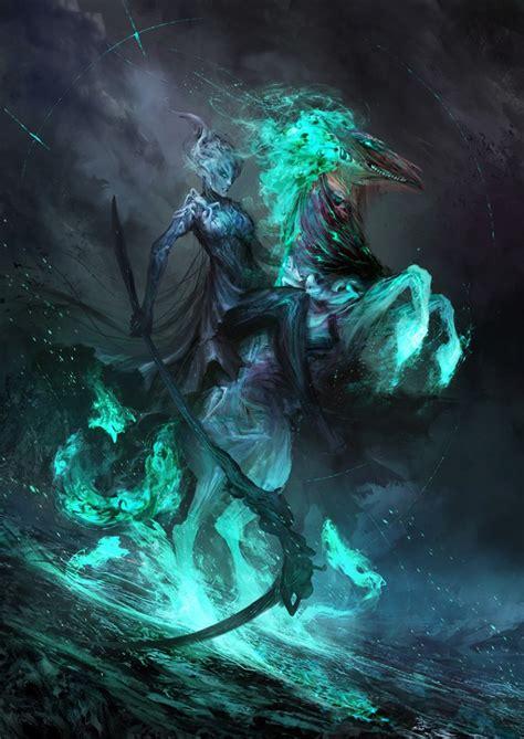 dark fantasy illustrations    horsemen