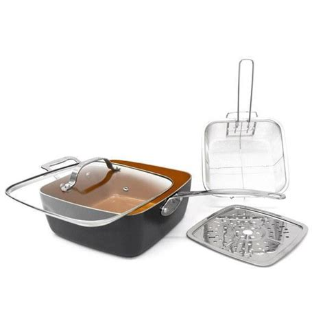 gotham steel  piece cookware set graphite grey domestify
