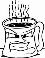 Coffee Coloring Cup Mug Angry Chocolate Printable Getcolorings Col Getdrawings sketch template