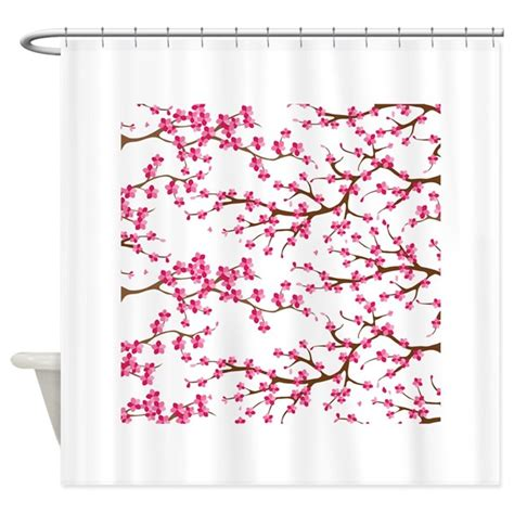 cherry blossom curtains uk cherry blossom flowers shower curtain by zenchic