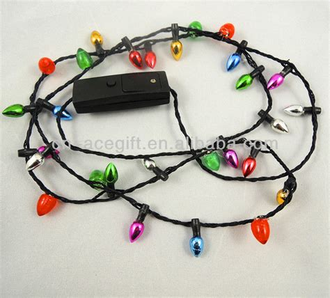 christmas light up necklace led light up necklace