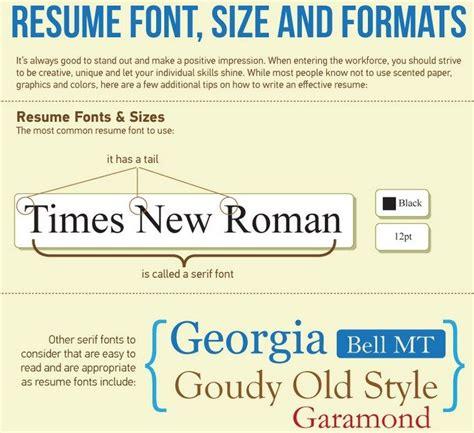 normal resume font size resume font size
