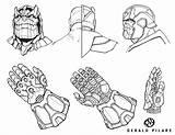 Gauntlet Drawing Infinity Thanos Artstation Getdrawings sketch template