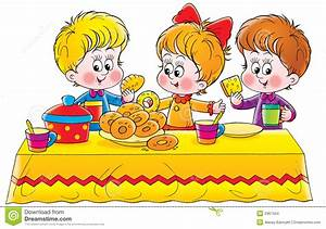 Children Eating Clipart #73491