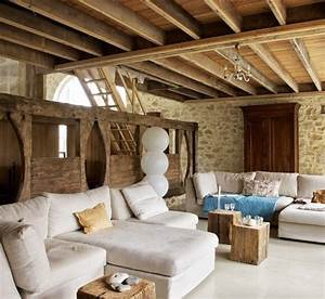 55 airy and cozy rustic living room designs digsdigs With carrelage maison de campagne