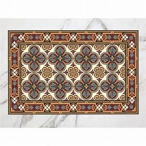 Tapis Vinyl Salon : tapis carreaux de ciment maussane ~ Melissatoandfro.com Idées de Décoration