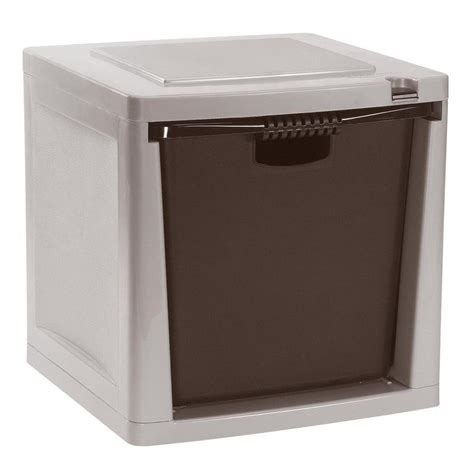 stackable storage drawers suncast storage trends heavy duty 50 lb capacity stacking