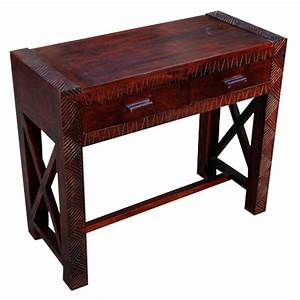 Solid, Wood, Entryway, Hand, Carved, Console, Table