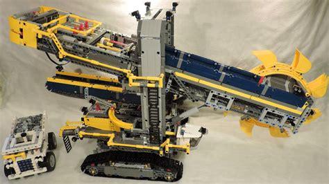 lego technic 42055 building lego technic 42055 wheel excavator 4k