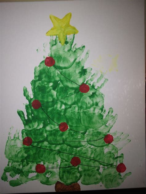 christmas tree handprint art www imgkid com the image