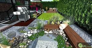 Déco Massif Avec Galets : jardin avec cailloux gravier deco jardin deco exterieur ~ Dailycaller-alerts.com Idées de Décoration