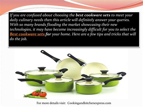 cookware sets selecting guide ppt powerpoint presentation