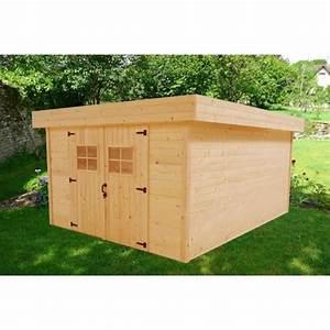 Abri De Jardin Toit Plat : abri de jardin 14 75m en bois massif toit plat en t le ~ Dailycaller-alerts.com Idées de Décoration