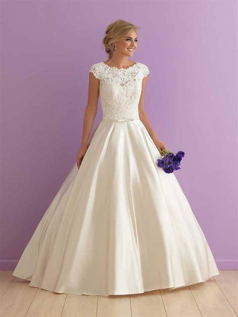 classic ball gown wedding dress  cap sleeves high