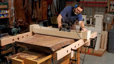 nick offerman talks woodworking obsession finewoodworking