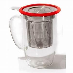 Mug Avec Infuseur : mug tastea avec filtre infuseur rouge ~ Teatrodelosmanantiales.com Idées de Décoration