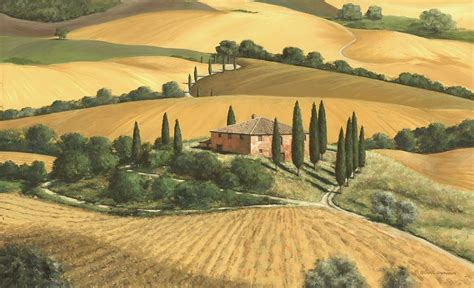 tuscan gold painting by michael swanson