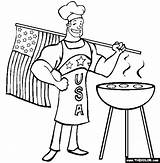 Coloring Patriotic Grill Churrasco Desenhos Bbq Flag Colorir Usa Apron Ii Imprimir Break Outros sketch template
