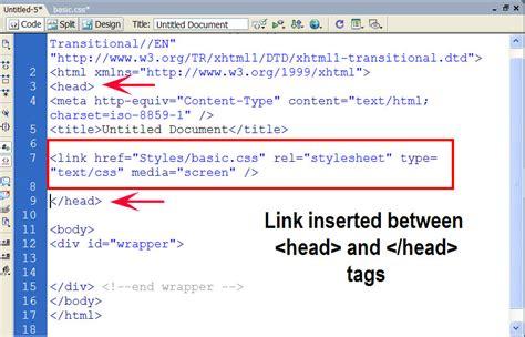 Linking Style Sheets Html Hostonnet