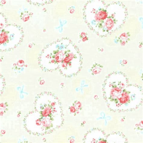 shabby chic fabrics ebay cottage shabby chic lecien princess rose hearts fabric 31266l 10 cream bty ebay