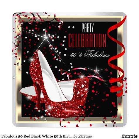 Fabulous 50 Red Black White 50th Birthday Party 2 Card. Turquoise Wedding Decorations. Room Thermostat With Remote Sensor. Wall Decorative Panels. Room Dividers For Studio Apartment. Rooms To Go Leather Sectional. Opi No Room For The Blues. Dining Room Table Rug. Decorative Cat Trees