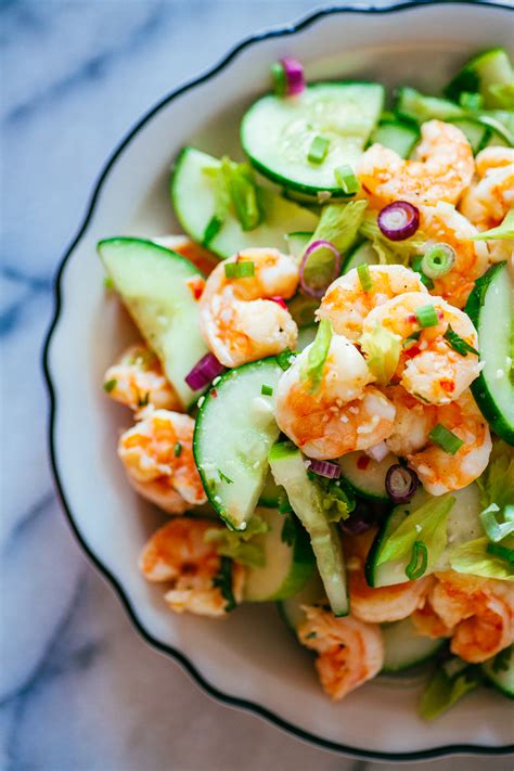 Stir in shrimp, onion, celery and mayonnaise. Shrimp & Cucumber Salad · The Crepes of Wrath - The Crepes of Wrath