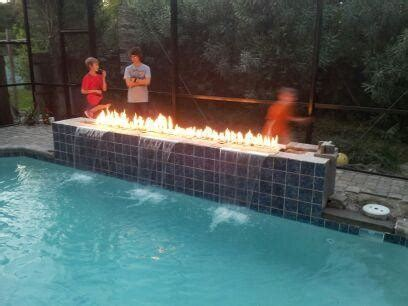 fire features contemporary pool tampa  landscape