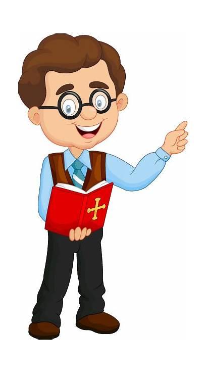 Teacher Cartoon Clipart Male Teaching Story Speaking