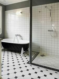 Le carrelage damier noir et blanc en 78 photos archzinefr for Carrelage damier noir et blanc salle de bain