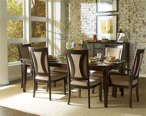 espresso dining room set aspen dining room set in espresso asikj 6050s