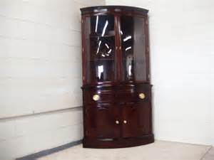 cabinet curio curved glass cabinet glass
