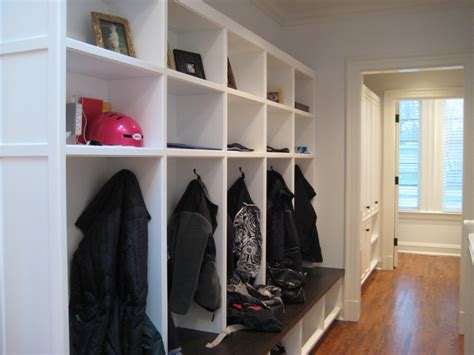 sumptuous cubbies in traditional with mudroom locker