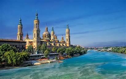 Zaragoza Spain Aragon River Cities