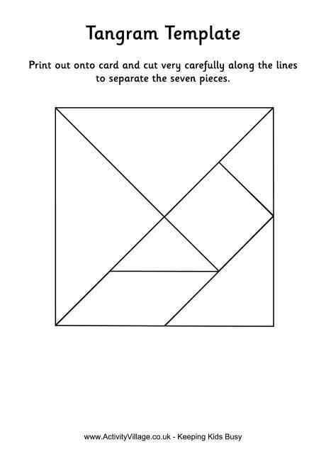 tangram template tangram black and white