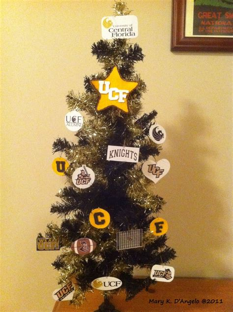 ucf knights christmas ornament tree with ucf ornaments go knights trees