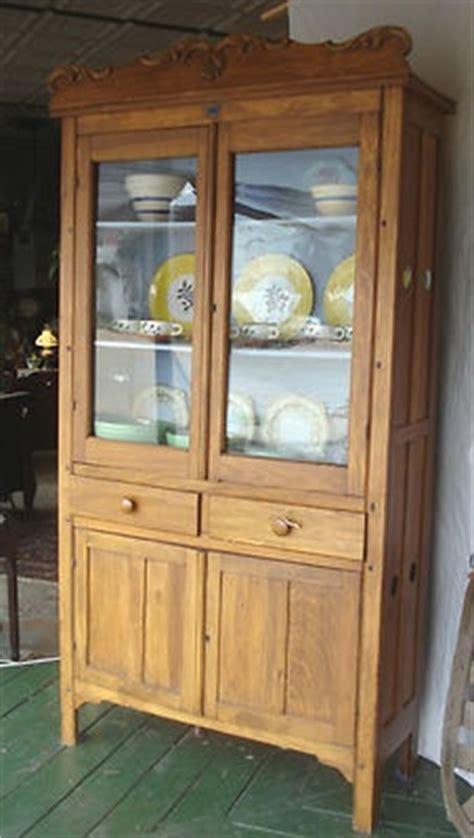 antique  victorian pie food safe tall cupboard