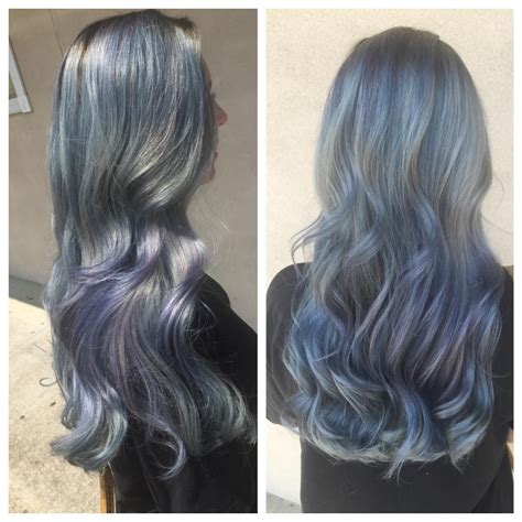 Icy Gray Blue Hair Hair Colors Ideas