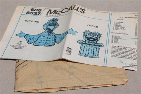 mccalls crafts sewing pattern sesame street puppets big