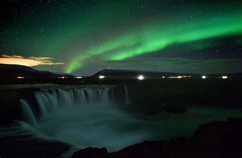 spektakel  himmel  island leuchten die polarlichter