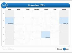 November 2023 Calendar