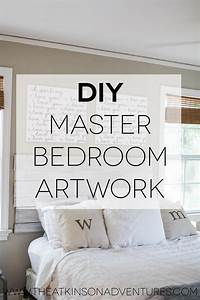 Master bedroom diy canvas quote art and a revamp artwork