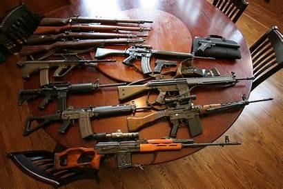 Sniper Table Guns Rifle Weapon Assault Rifles