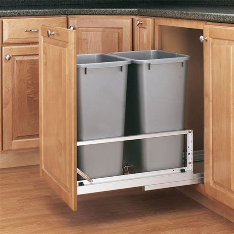 pull out garbage cabinet rev a shelf 39 39 premiere quot double bin pull out waste