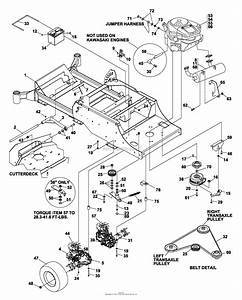 Bunton  Bobcat  Ryan 642293 Estatepro  42 Side Discharge Parts Diagram For Frame